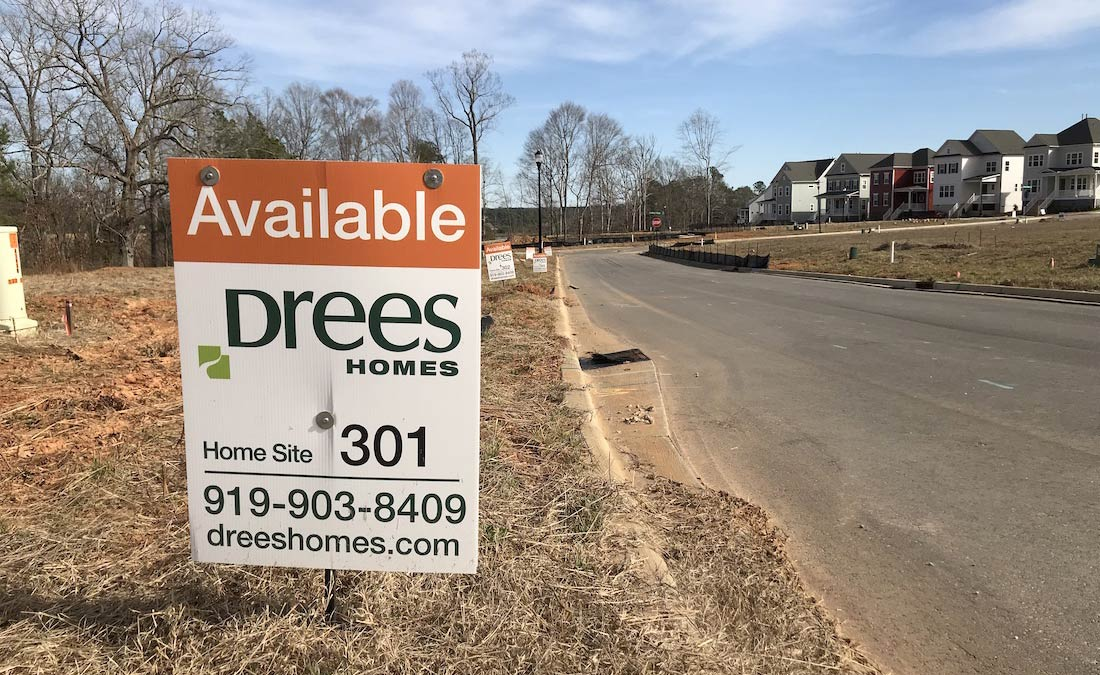 Lakeside Homes in Wake Forest NC | New House Construction | Holding Village