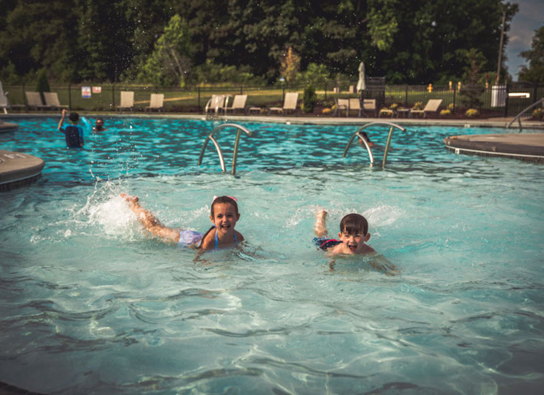 Family Fun at the Holding Village Pool | New Homes in Wake Forest NC